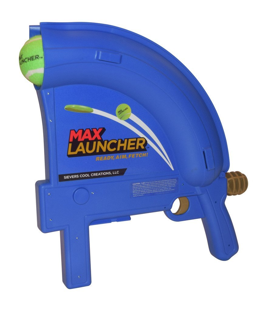 Max Launcher -- service dogs love this tennis ball thrower.