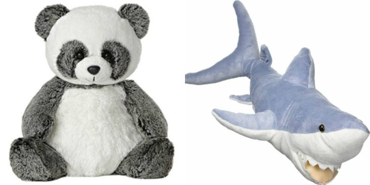 panda and shark stuffed animals