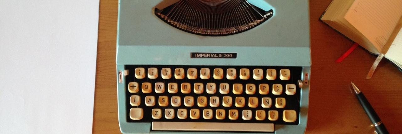 Typewriter image. The writer's life.