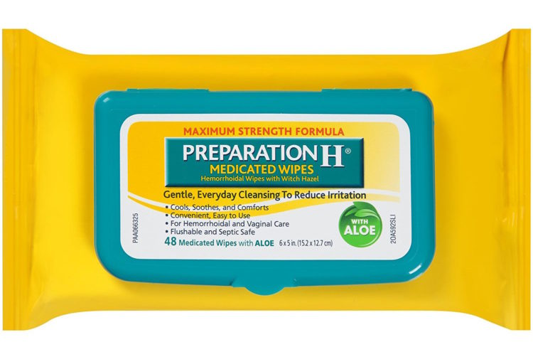 preparation h medicated hemorrhoid wipes