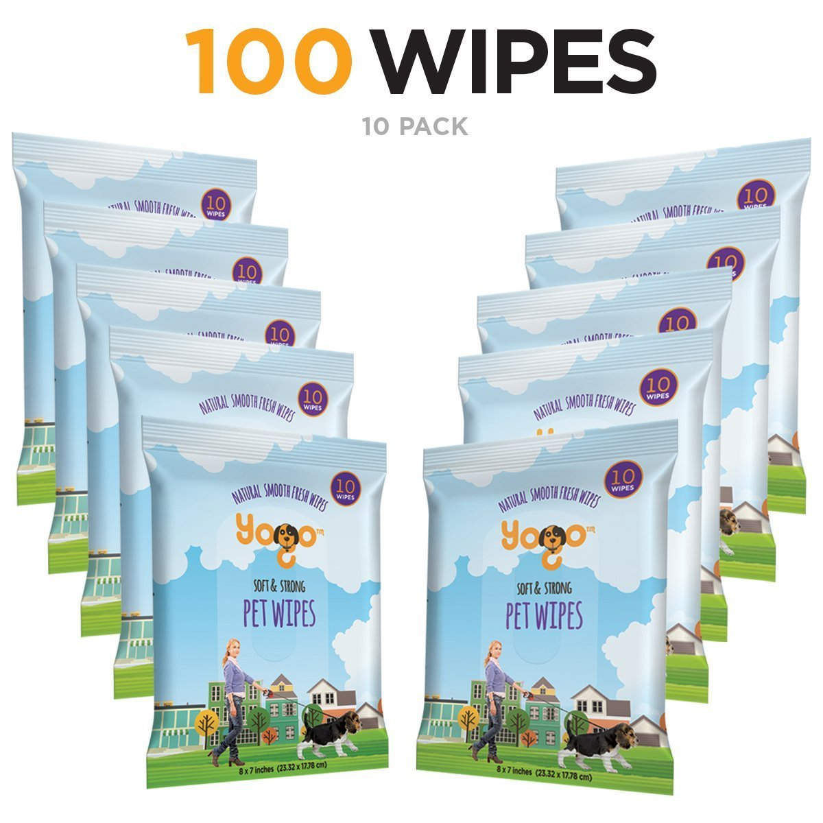 Grooming wipes help keep service dogs clean while on the go.