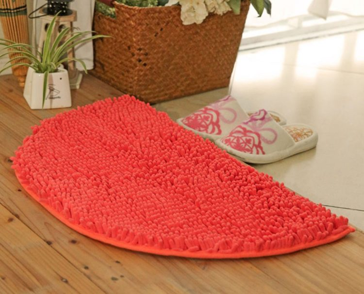 small orange rug
