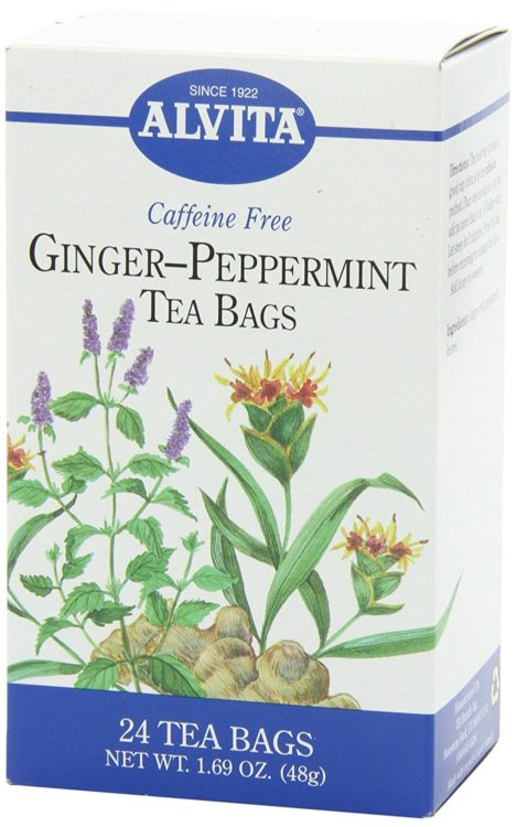 ginger-peppermint tea bags