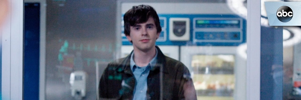 """The Good Doctor"" promo image of Freddie Highmore."