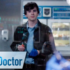 """""""The Good Doctor"""" promo image of Freddie Highmore."""