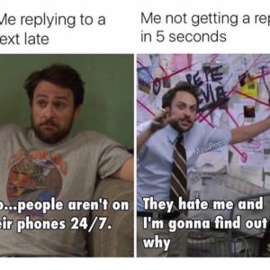 phone replying messages meme
