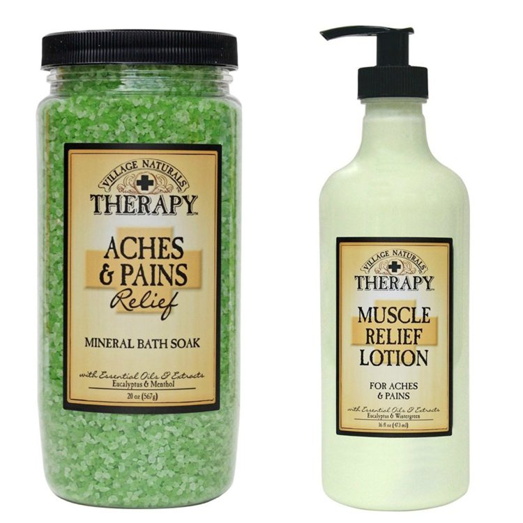 village naturals bath soak and body lotion