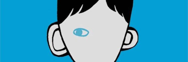 "An image of the ""Wonder"" logo, of a boy with one eye."