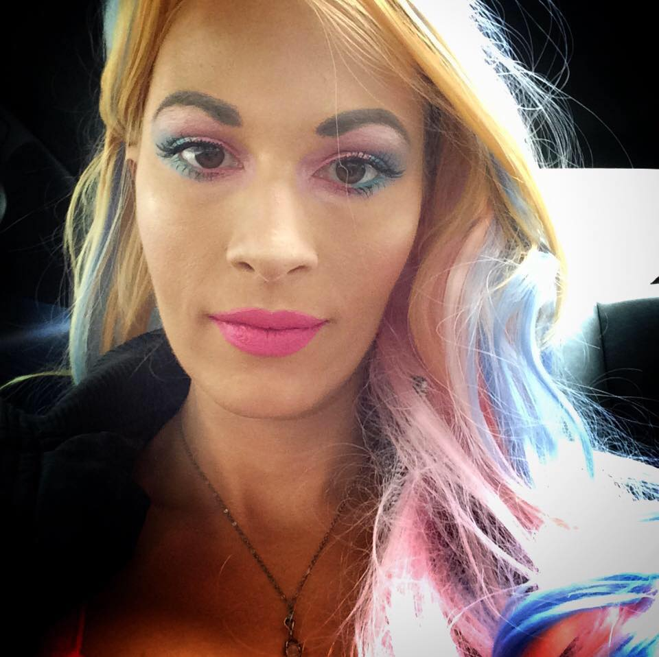 The writer with rainbow hair.