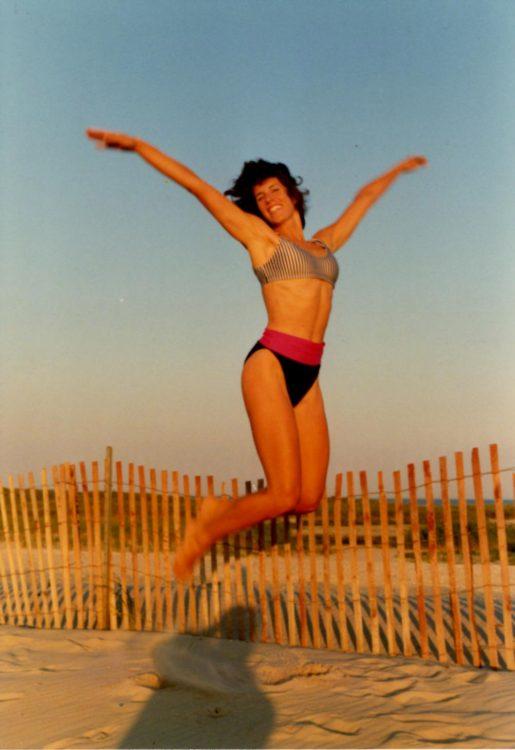 woman dancing on jones beach