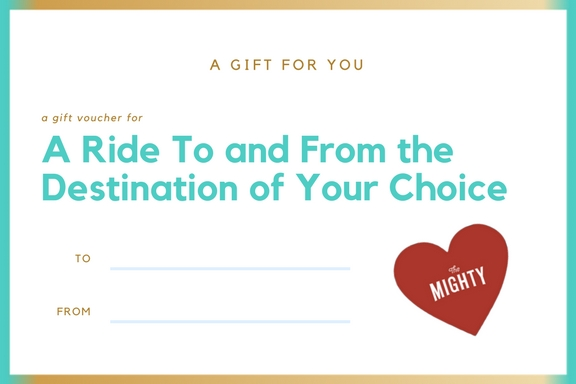 a coupon for a ride to and from the destination of your choice