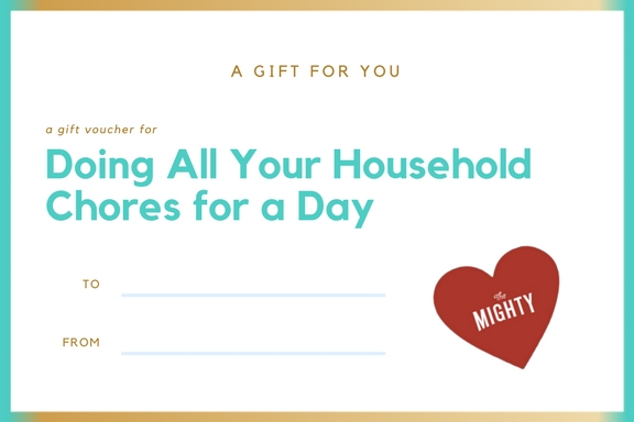coupon for doing all your household chores for a day