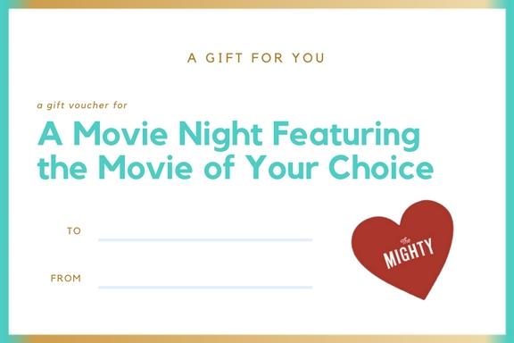 a coupon for a movie night featuring the movie of your choice