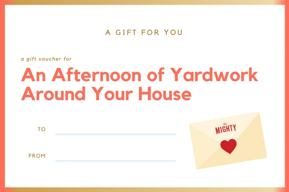 coupon for an afternoon of yardwork around your house