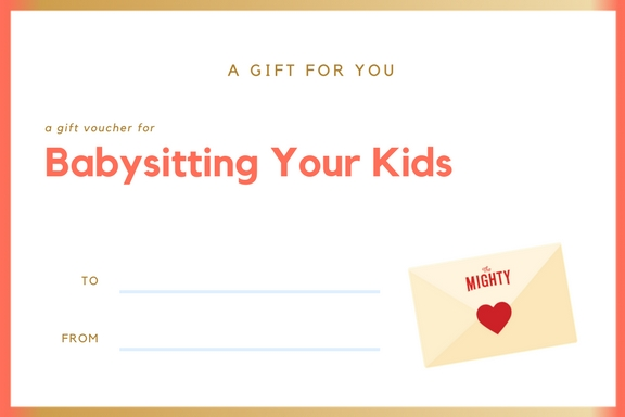 coupon for babysitting your kids