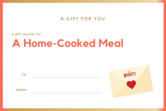 a coupon for a home cooked meal