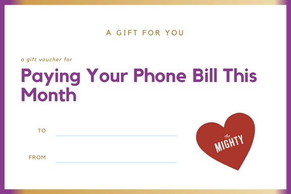 a coupon for paying your phone bill this month