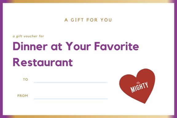 coupon for dinner at your favorite restaurant