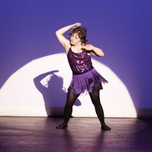 Girl with Down syndrome at dance competition