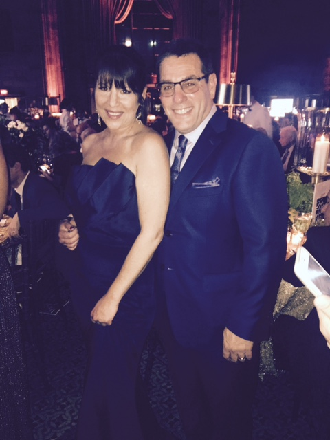 man and woman at the global lyme alliance gala in new york
