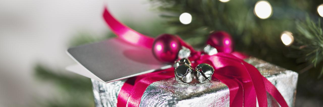 christmas present underneath the tree