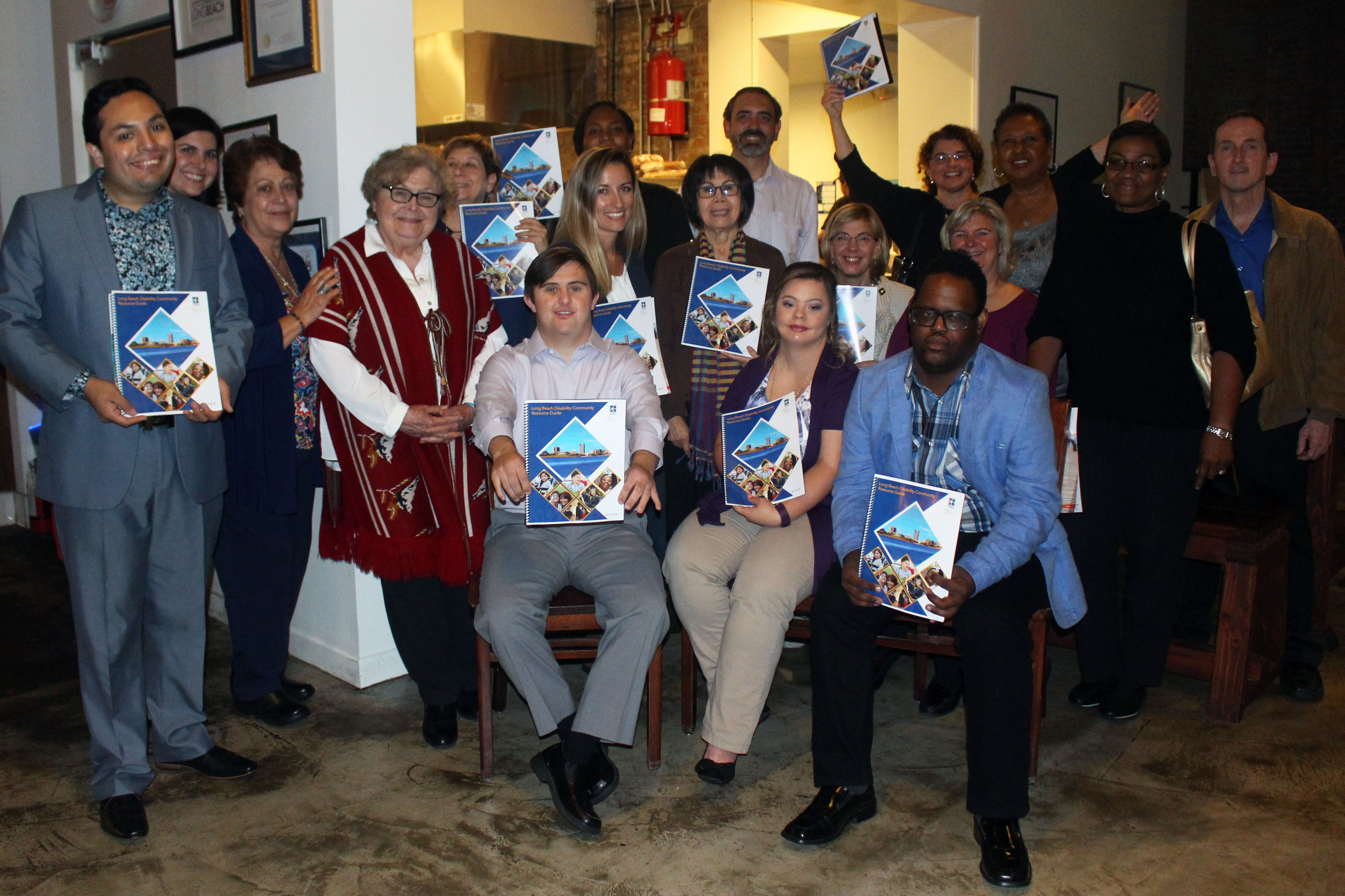 Community partners celebrating the release of the guide
