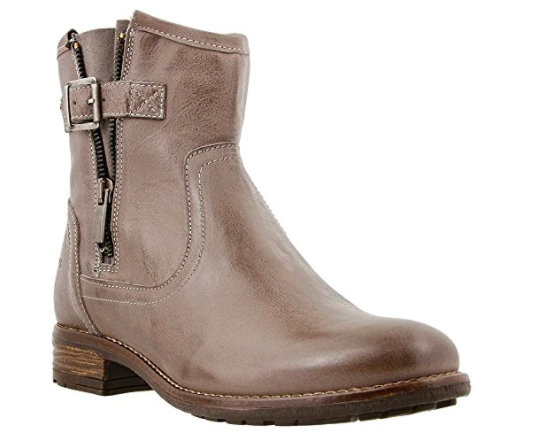 taos ankle boot with strap and zip up side