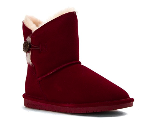bearpaw brand red soft ankle boots