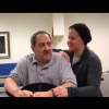 amy schumer standing next to her dad in a doctors office