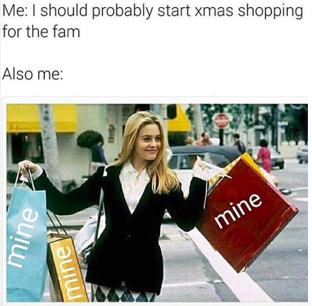 i should probably do shopping for the family meme
