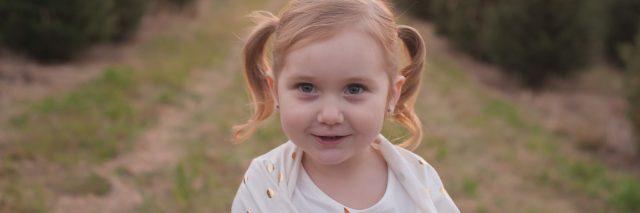 cute little girl outside