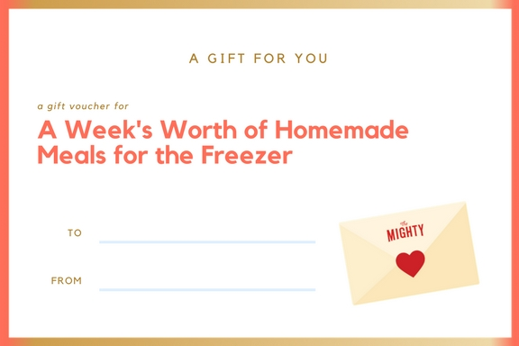 week worth homemade meals cancer gift voucher