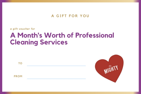 professional cleaning service cancer gift voucher