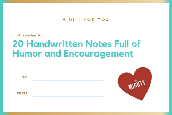 handwritten notes cancer gift voucher