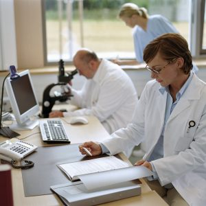 doctors doing research in their office