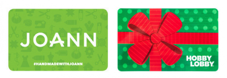 joann gift card and hobby lobby gift card