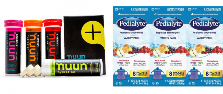 nuun and pedialyte