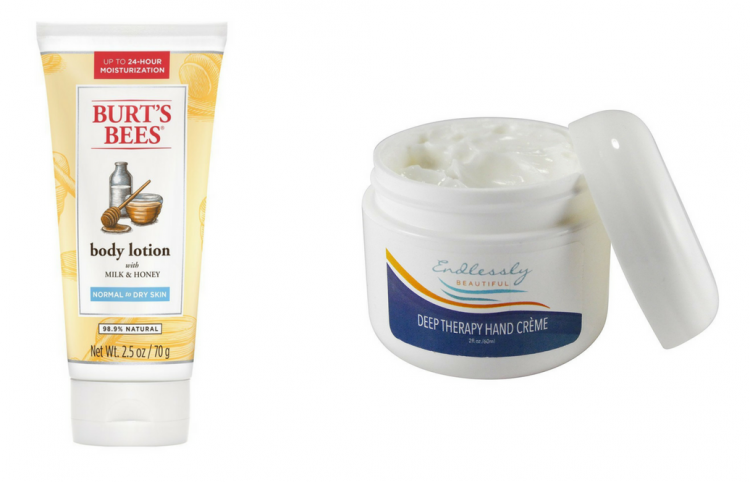 burt's bees body lotion and unscented hand cream