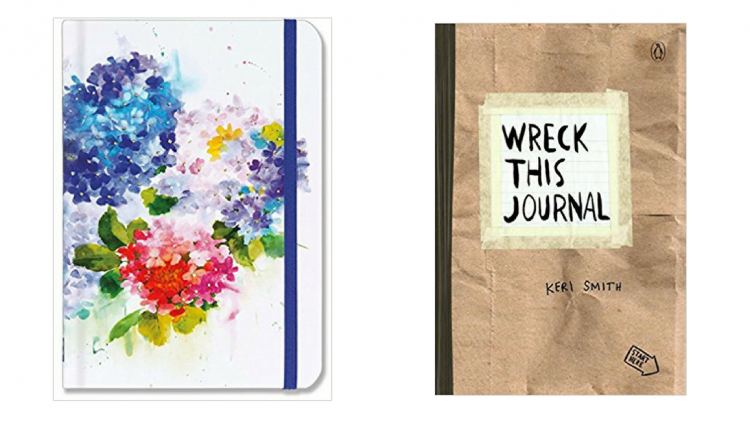 hydrangeas journal and wreck this journal