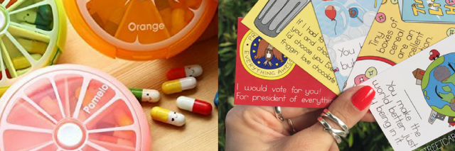 pill cases and cards