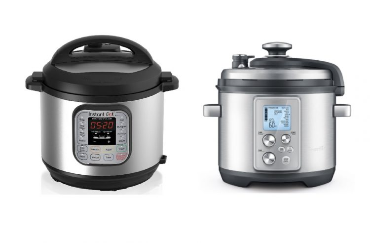 instapot and breville pressure cookers