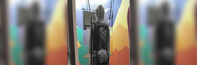 woman doing a posturography test