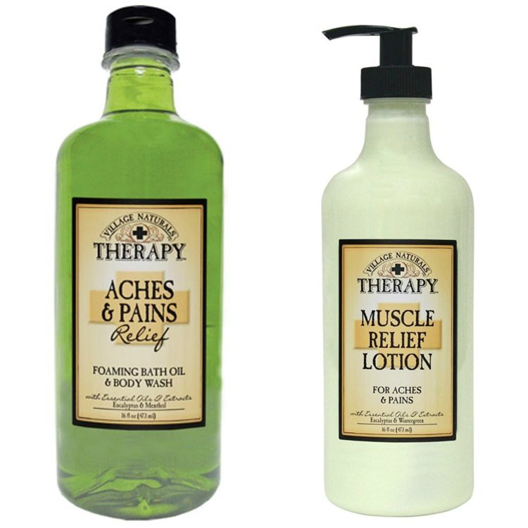 village naturals lotion and body wash
