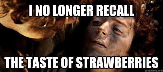 chemo no longer recall taste of strawberries