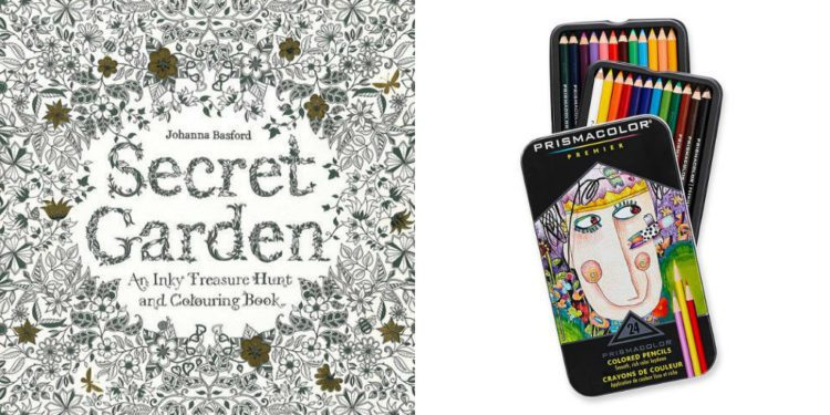 coloring book and pencils
