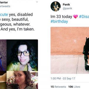 #disabledandcute hashtag screenshots.