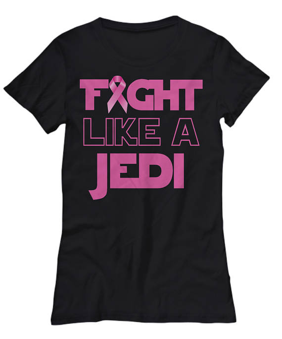 fight like a jedi breast cancer shirt