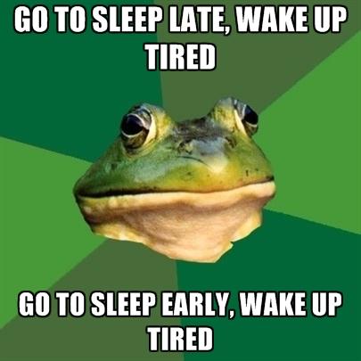 go to sleep tired meme
