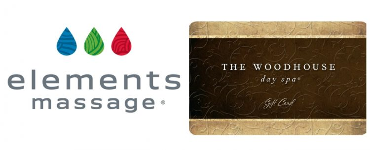 logos for elements massage and the woodhouse day spa