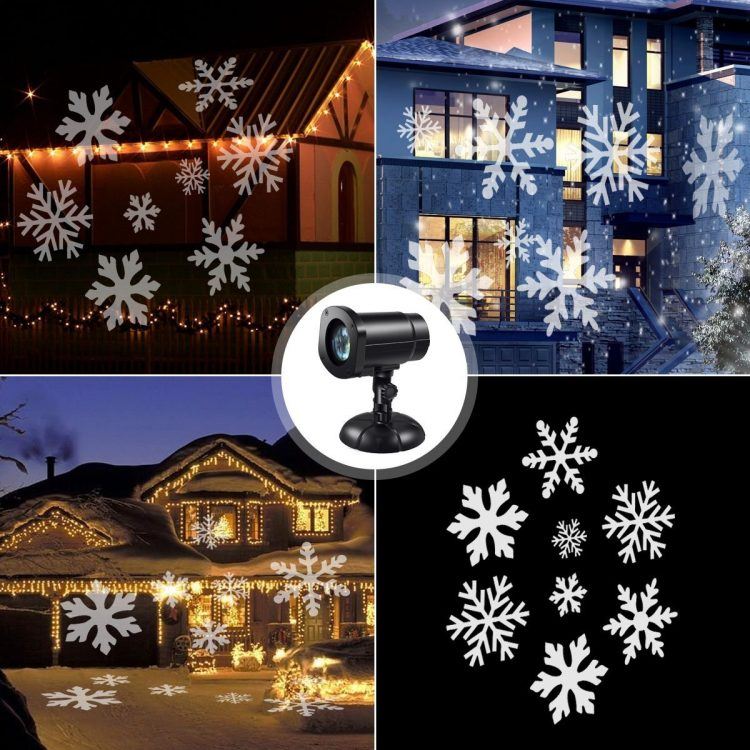 snowflake outdoor light projector